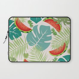 Tropical red green watermelon fruit floral Laptop Sleeve