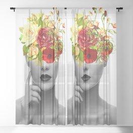 Flower Girl Sheer Curtain