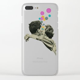 First Kiss Clear iPhone Case