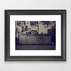Everett's Bench Framed Art Print