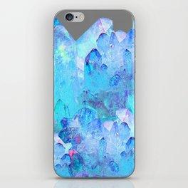 AURAL BLUE CRYSTALS ART iPhone Skin