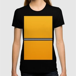 NY Taxi Cab Yellow with Black and White Check Band T-shirt