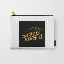 Save The Manatees I - Nature & Wildlife Gift Carry-All Pouch