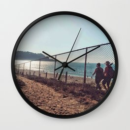 Hiking  view Wall Clock