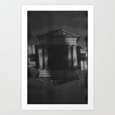 Mansions (35mm Double Exposure) Art Print
