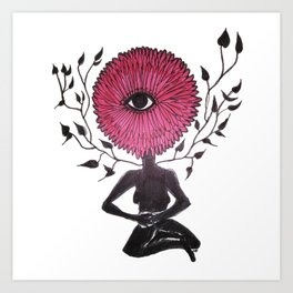 Divine Flower Woman Art Print