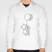 westie Hoodies featuring Hungry Westie Puppy by Lucy Olver