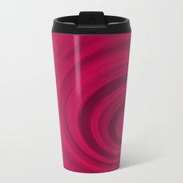 Red abstract pattern Metal Travel Mug