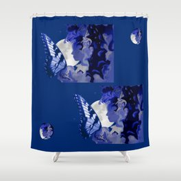 The Butterfly Maker's Moon Shower Curtain