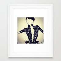 scrubs Framed Art Prints featuring scrubs to couture sketch by Scrubs to Couture- by Craig