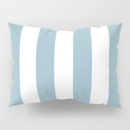Large Baby Blue and White Vertical Cabana Tent Stripes Pillow Sham