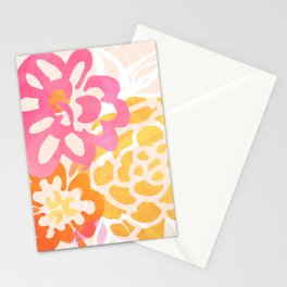 Summer Floral / Pink and Gold Stationery Cards