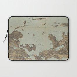 Vintage Pictorial Map of Boston Harbor (1879) Laptop Sleeve