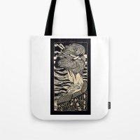 geisha Tote Bags featuring Geisha by Mario Sayavedra