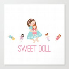 SWEET DOLL Canvas Print
