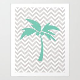 Tropical Chevron Art Print