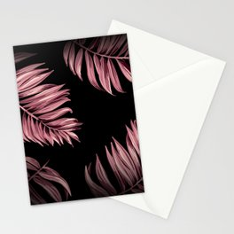 Rose Pink Palm Leaves Stationery Cards