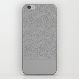 Combo light grey abstract pattern . iPhone Skin