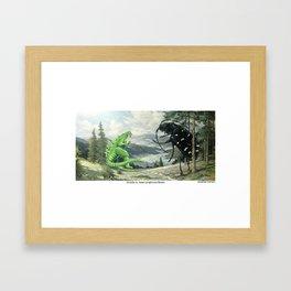 Godzilla vs. Asianlonghorned Beetle Framed Art Print