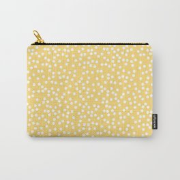 Yellow and White Polka Dot Pattern Carry-All Pouch