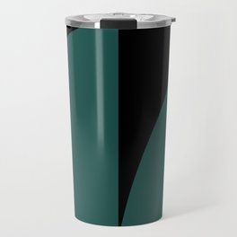 Bold Geometric Shapes - Teal Travel Mug