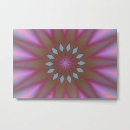 At Peace Double Kaleidoscope Metal Print