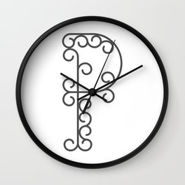 """Letter """"P"""" in beautiful design Fashion Modern Style Wall Clock"""