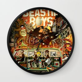 Beastie Invasion Wall Clock