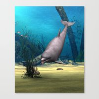 dolphin Canvas Prints featuring Dolphin by Design Windmill