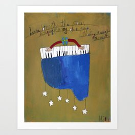 My Blue Piano Art Print