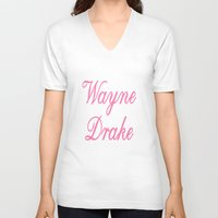 minaj V-neck T-shirts featuring Never F'd Wayne by Sincere