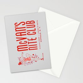 McVan's Nite Club in Red Stationery Cards