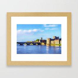 King Johns Castle and Thomond Bridge Framed Art Print
