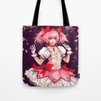 madoka Tote Bags featuring ♥ Madoka ♥ by ShinoX