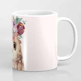 Owl with Flowers Coffee Mug