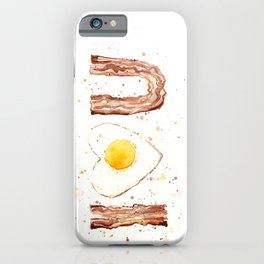 Bacon and Egg Love Valentines Day Heart iPhone Case
