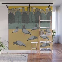 Pigeons Day Out Wall Mural
