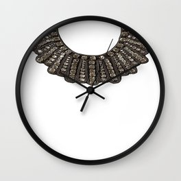 Ruth Bader Ginsburg's Dissent Collar RBG Wall Clock