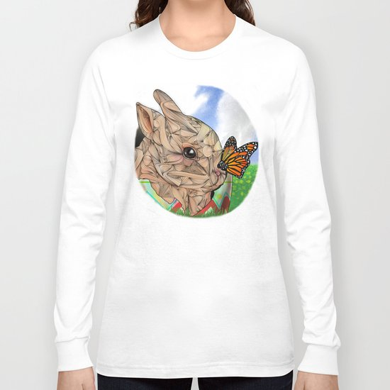Bunny and Butterfly Long Sleeve T-shirt
