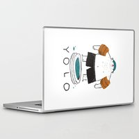 yolo Laptop & iPad Skins featuring yolo by Louis Roskosch