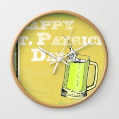 St Patrick's Day Wall Clock