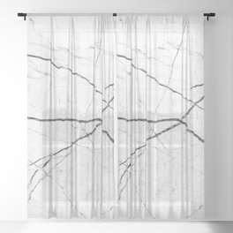 White marble abstract texture pattern Sheer Curtain