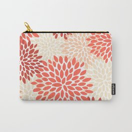 Floral Pattern, Living Coral, Peach Carry-All Pouch