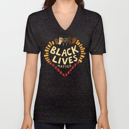Black Lives Matter ~ dark Unisex V-Neck
