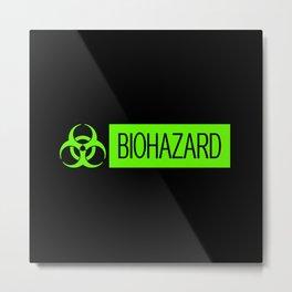 HAZMAT: Biohazard (Slime Green & Black) Metal Print