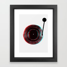 Vinyl Player Framed Art Print