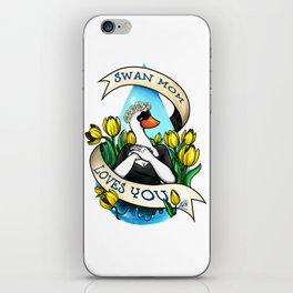 Swan Mom Loves You iPhone Skin