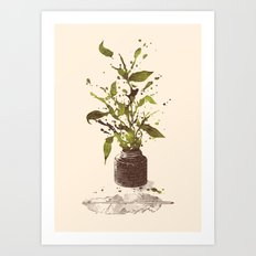 A Writer's Ink Art Print