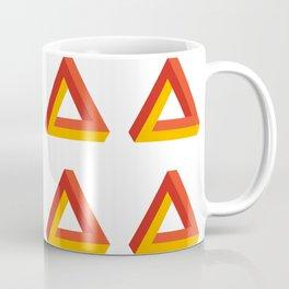 Impossible triangle optical illusion pattern - orange Coffee Mug