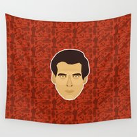 bond Wall Tapestries featuring James Bond - Goldeneye by Kuki